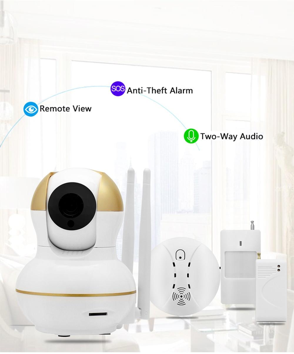 Wistino Alarm Systems Security WIFI IP Camera Security System Video Monitor Surveillance Camera Wireless Home Alarm System With Sensor Alarm Wifi kit Smart Home Camera (3)