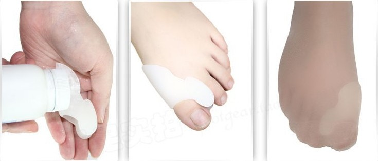 Unisex eases foot pain silicone toe spreader bunion shield hallux valgus orthotics as foot care tool high heel shoes accessory