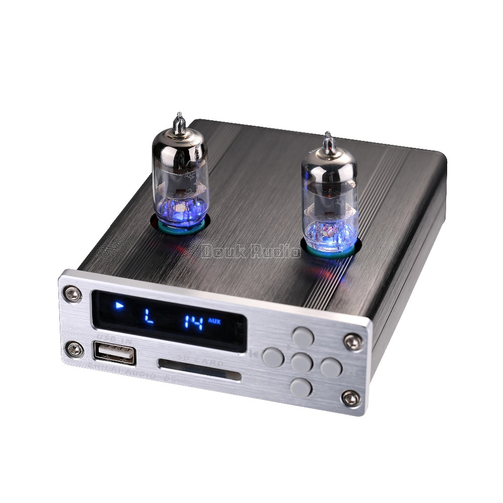 2017 New Nobsound Mini 6J1 Vacuum Tube Pre-Amplifier Stereo Preamp USB DAC Audio HiFi Music Player music hall vacuum tube audio power amplifier class a hifi stereo hybrid av desktop amp usb support usb sd card play