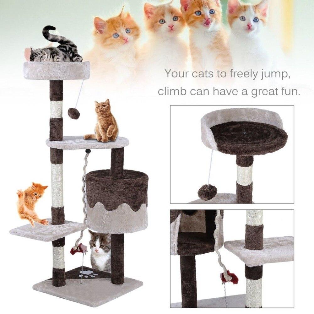 Entrega libre gato casa Cama colgante bolas árbol Kitten muebles ...