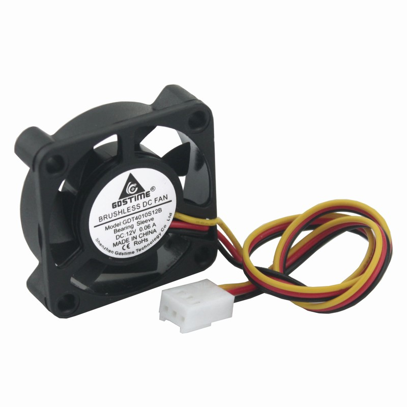 Gdstime 5 pcs 12 Volt 3Pin 4010 Cooling Fan 40x40x40mm DC Brushless Small Fan 12v 40mm x 10mm PC Heatsink Cooler 4cm gdstime 1 pcs cooling fan 40mm x 15mm 4cm 2 pin dc 4015 small brushless cooler fan 12v pc computer chip 40x40mm