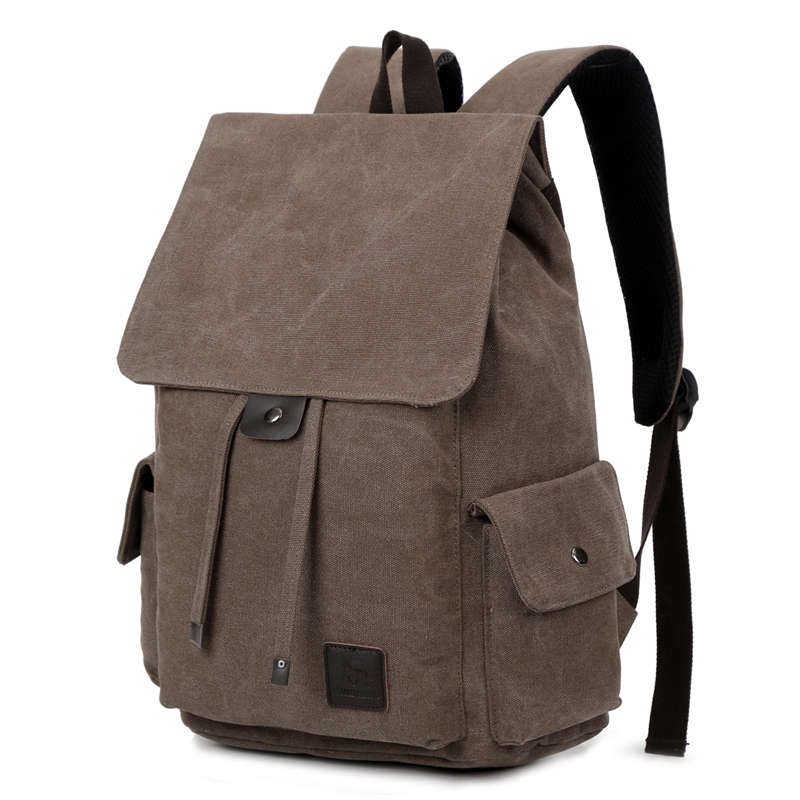 Vintage Men's Canvas Travel Backpack School Bags Large Capacity Male Travel Rucksack Casual Men Laptop Backpack 14 Inch 1264 men s canvas backpack vintage student school bags for teenagers laptop bag casual rucksack travel large capacity daypack