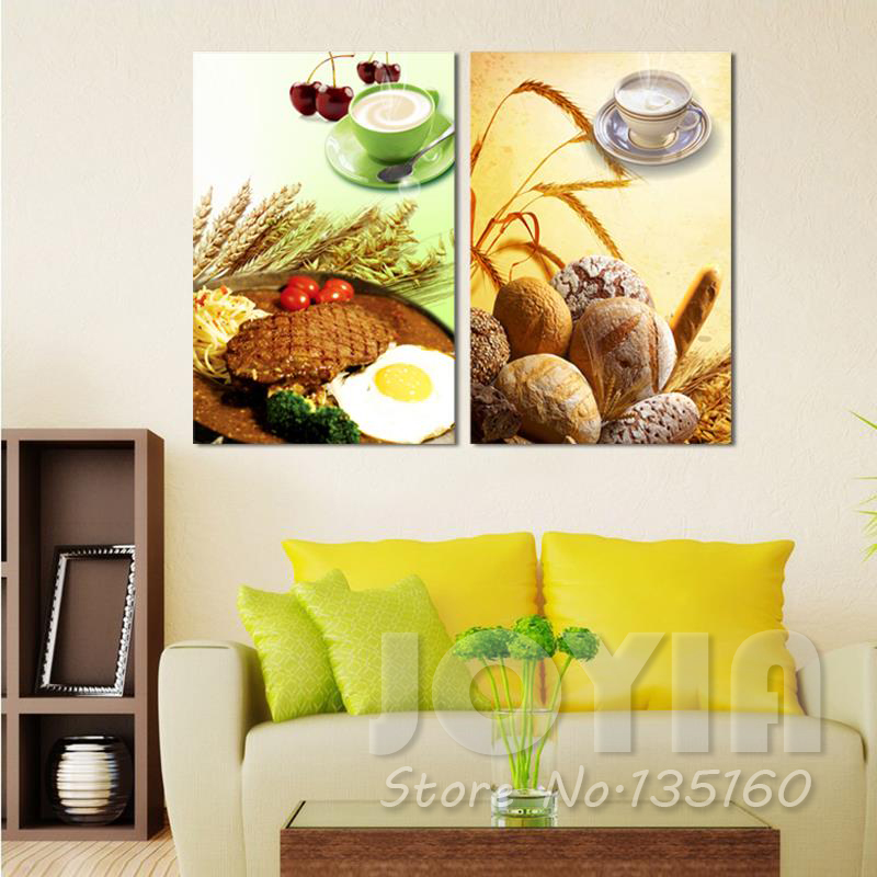 Large Canvas Picture Home Decor Kitchen Wall Decor Food Painting ...