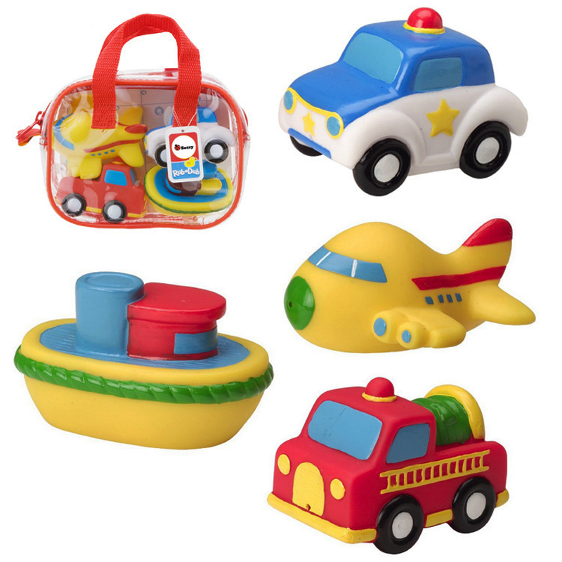 Kawaii 4Pcs//set Mini Cute Bath Toys Fishing Floating Bathroom Pool Game Funny