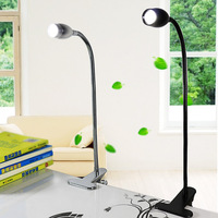Gooseneck USB SMD LED Portable Reading Light Table Lamp Clip Silver Steel Student Bedside Desk LED