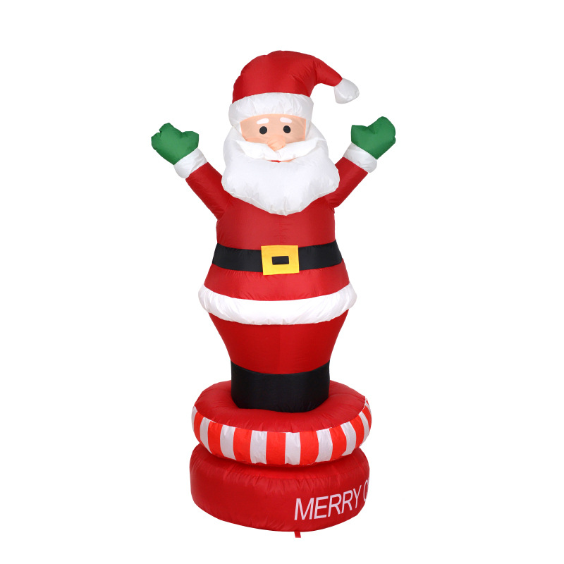 180cm Giant Santa Claus LED Lighted Inflatable Toys Christmas Halloween Props Birthday Wedding Party Toy Yard Decoration Blow Up halloween inflatable vampire zombie 4m high halloween decoration bingo inflatables bg a0802 7 toy