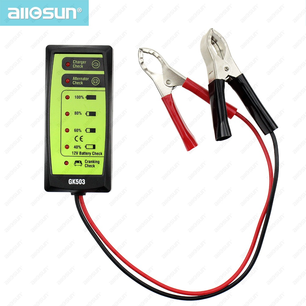 mini 12v automotive car battery tester charger alternator cranking check with 6 led display. Black Bedroom Furniture Sets. Home Design Ideas