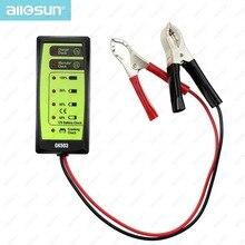 Mini 12 V Automotriz/Probador de La Batería Del Coche Cargador/Alternador/Arranque Consulte con 6-LED de Visualización fácil de Usar ALL-SUN GK503