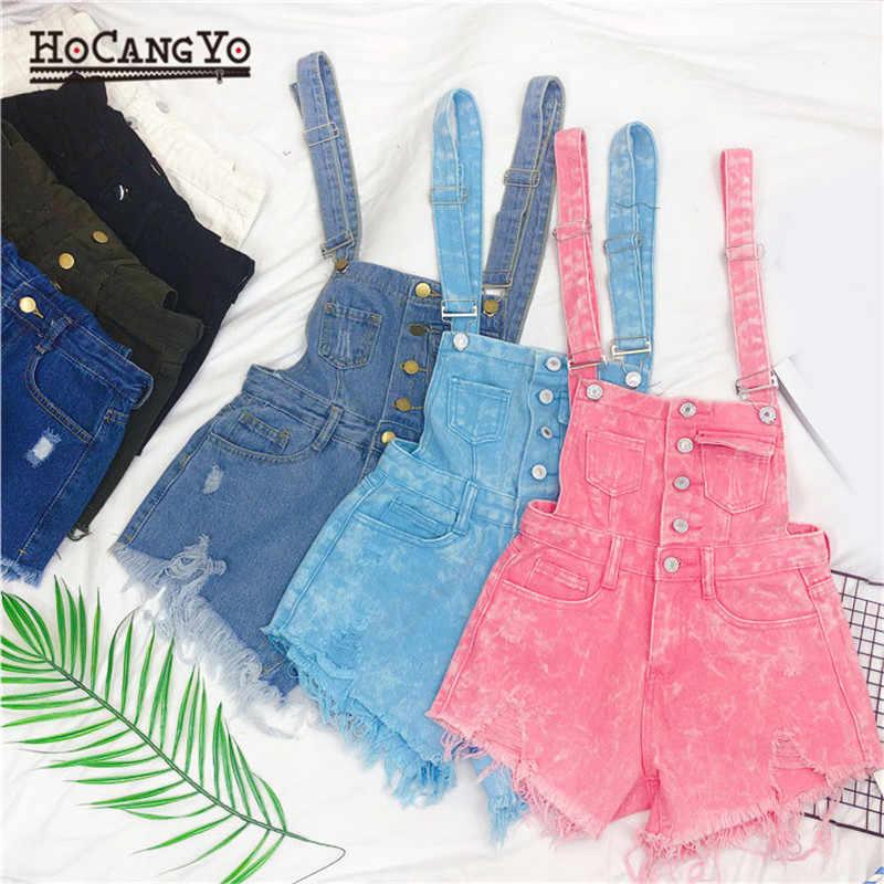 HCYO джинсовые комбинезоны для женщин s комбинезон, короткий комбинезон для женщин комбинезоны больших размеров отверстие костюмы пляжного типа и комбинезоны для девочек комбинезоны