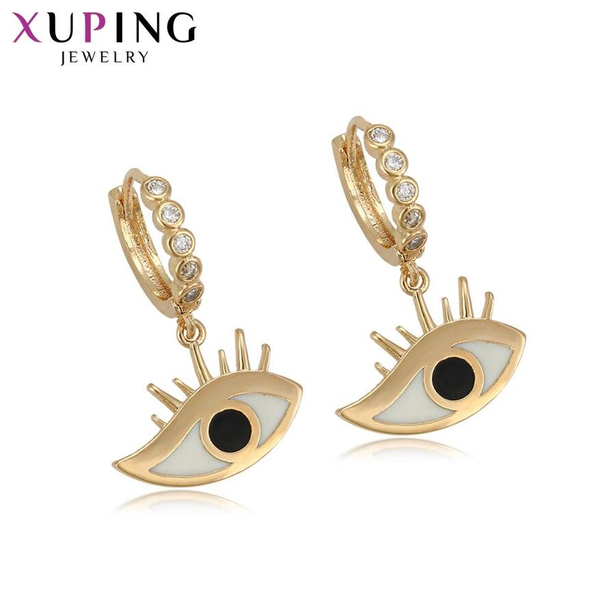 Ohrringe Xuping Mode Elegante Gold Farbe Überzogen Ohrringe Hoops Für Frauen Mädchen Hohe Qualität Schmuck Halloween Geschenke S76 3-94719 Farben Sind AuffäLlig