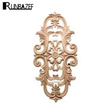 ФОТО c.flower european wood door flower carved decorative decals furniture accessories decoration crafts figurines miniatures