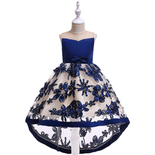 Children Party Vestidos 3D Flower Girls Dresses for 2-10 Years Party Baby Girls Clothes Sleeveless Princess Wedding Dress