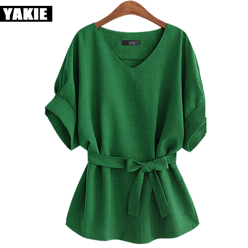 Summer Tops and   blouses   Plus Size 5Xl Women   Blouse     shirt   Casual Ladies cotton linen womens   Shirts   Loose Blusas Camisa Mujer