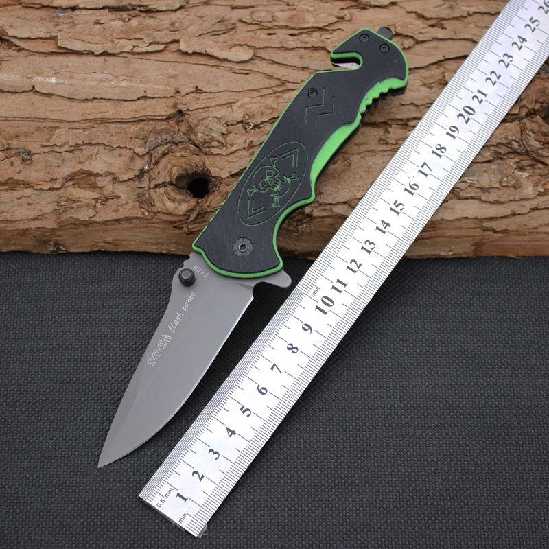 Folding font b Knife b font SOG Survival Knifes 5CR13MOV Steel Blade G10 Handle Pocket Hunting