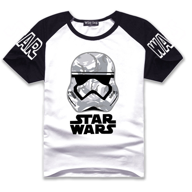 Starwars Stormtrooper Print T-shirt Star Wars The Force Awakens ( 9 colours )