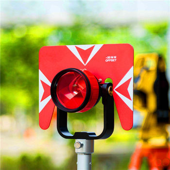 1PCS Single Prism with Bag for total station 0/-30mm Constant Prism