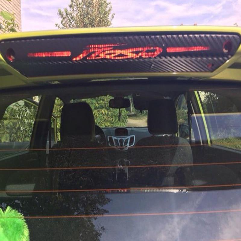 Hot selling 3D carbon fiber brake light sticker High Rear Brake Lights sticker case For Ford Fiesta hatchback sedan AP-018 best top selling new stylish decal carbon fiber skin sticker for xbox one console