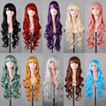 Grey/Purple/Bron/Black 10 color Cheap Sex Products Synthetic  Lolita Anime Wig Cosplay Hair Wigs 80cm Long Curly Perruque Peruca
