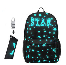 2017 Anti-theft School Backpack Kids Children Backpacks Anime Luminous Teenagers Boys Student Cartoon School Bags For Girs