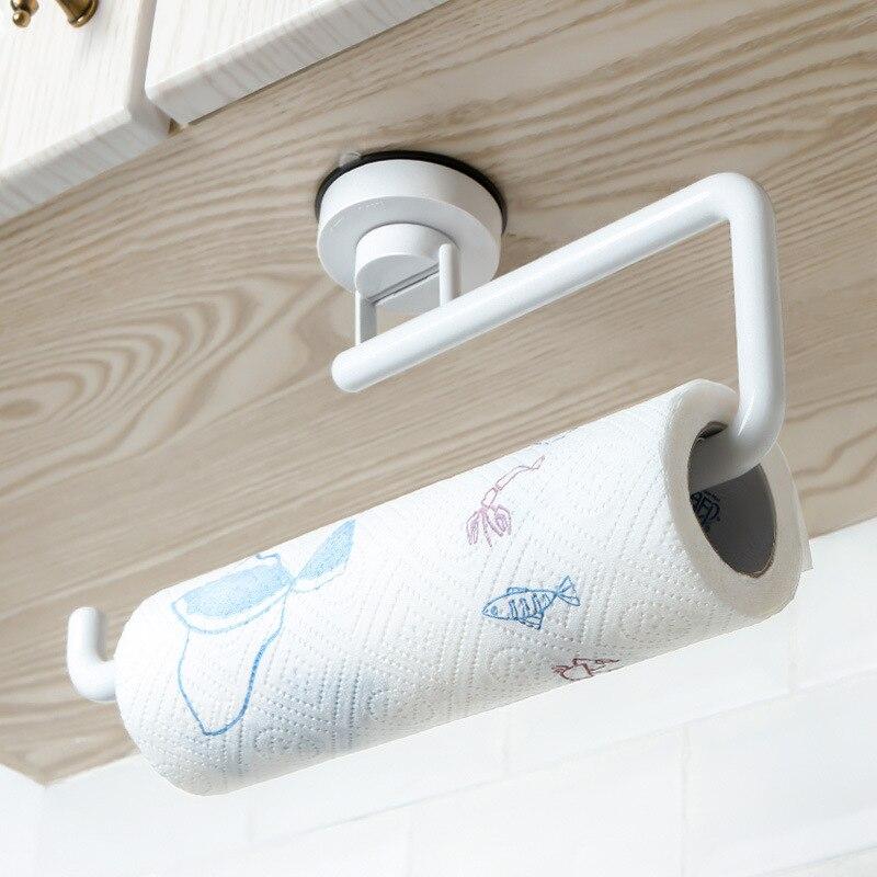 Accessori Per la cucina di Stoccaggio Titolare Vuoto Ventosa Tovagliolo di Carta Adesivo Cremagliera Bagno Asciugamano Mensola A Muro Appeso Carta in Rotolo Rack