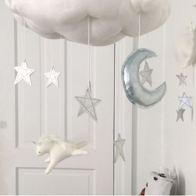 Online Shop Soft Baby Bed Hanging Toy Cloud Wall Decor Stuffed ...