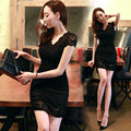 Fashion Summer women's ol elegant slim basic sexy club slim hip lace one-piece dress free shipping