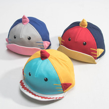 Spring Summer Children Baseball Caps Boys Sun Hat Cotton Baby Hats for  Girls Cartoon Unicorn Shark 58bd11bd88e9