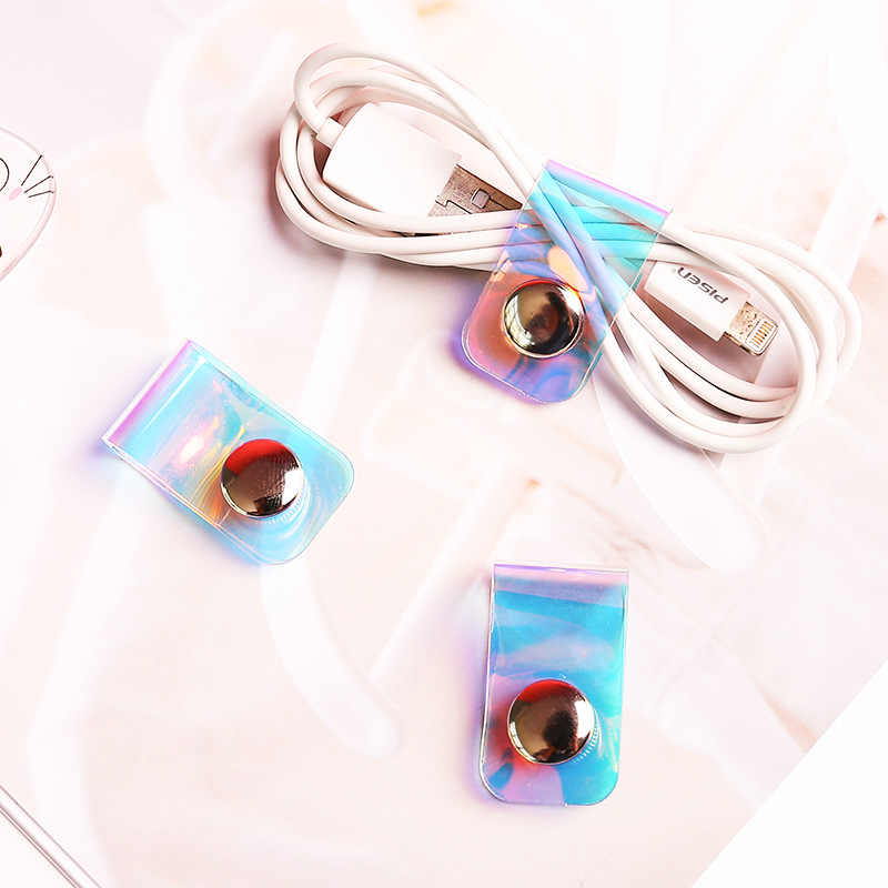 Portable Earphone Data Cable Buckle Storage Rack Organizer Line Storage Clip  Snap Button Winder Fixed Fit Cable Wire Clips