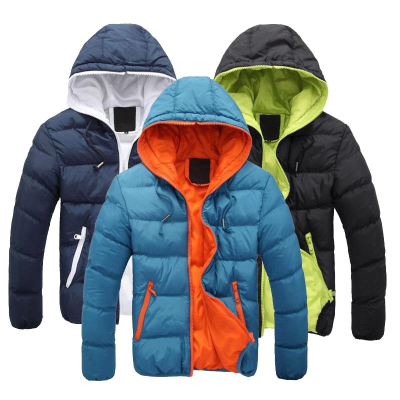 ФОТО Down Coat Winter Jacket Men Casual Warm Coat Outerwear Parka Jacket 5 Color Plus Size Down Jacket Men Brand Clothing MT077