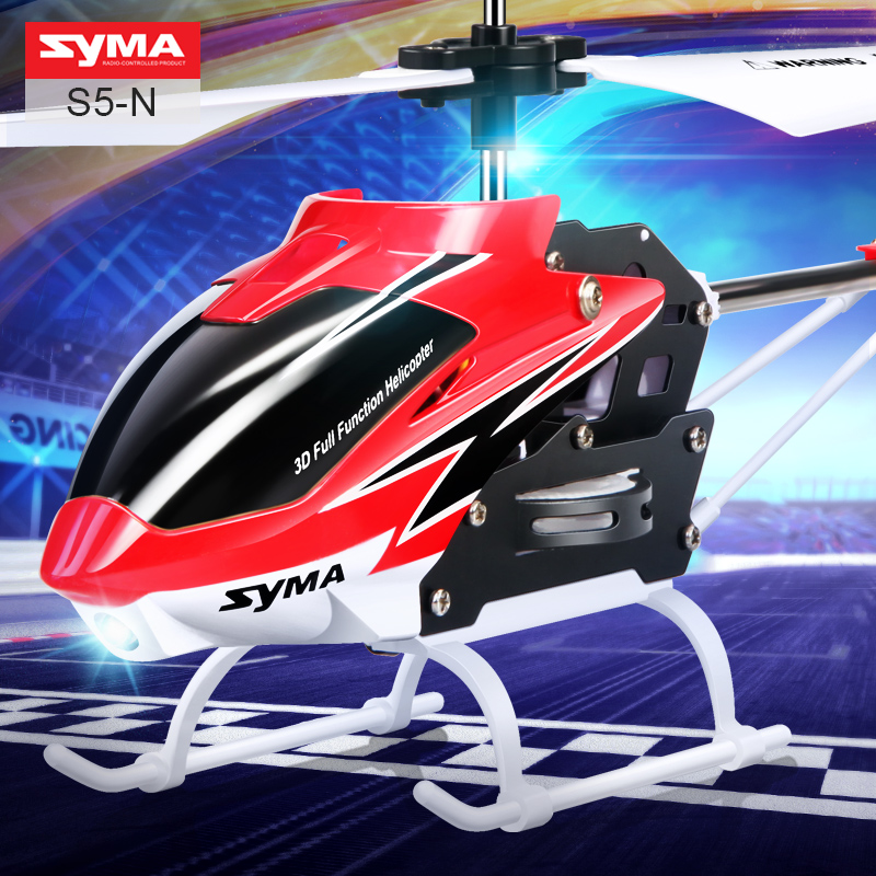 SYMA S5-N RC Helicopter Remote Control Helicopter LED Light With Gyro Shatterproof Indoor 3.5CH RC Aircraft Toys For Children optibay espada sa95