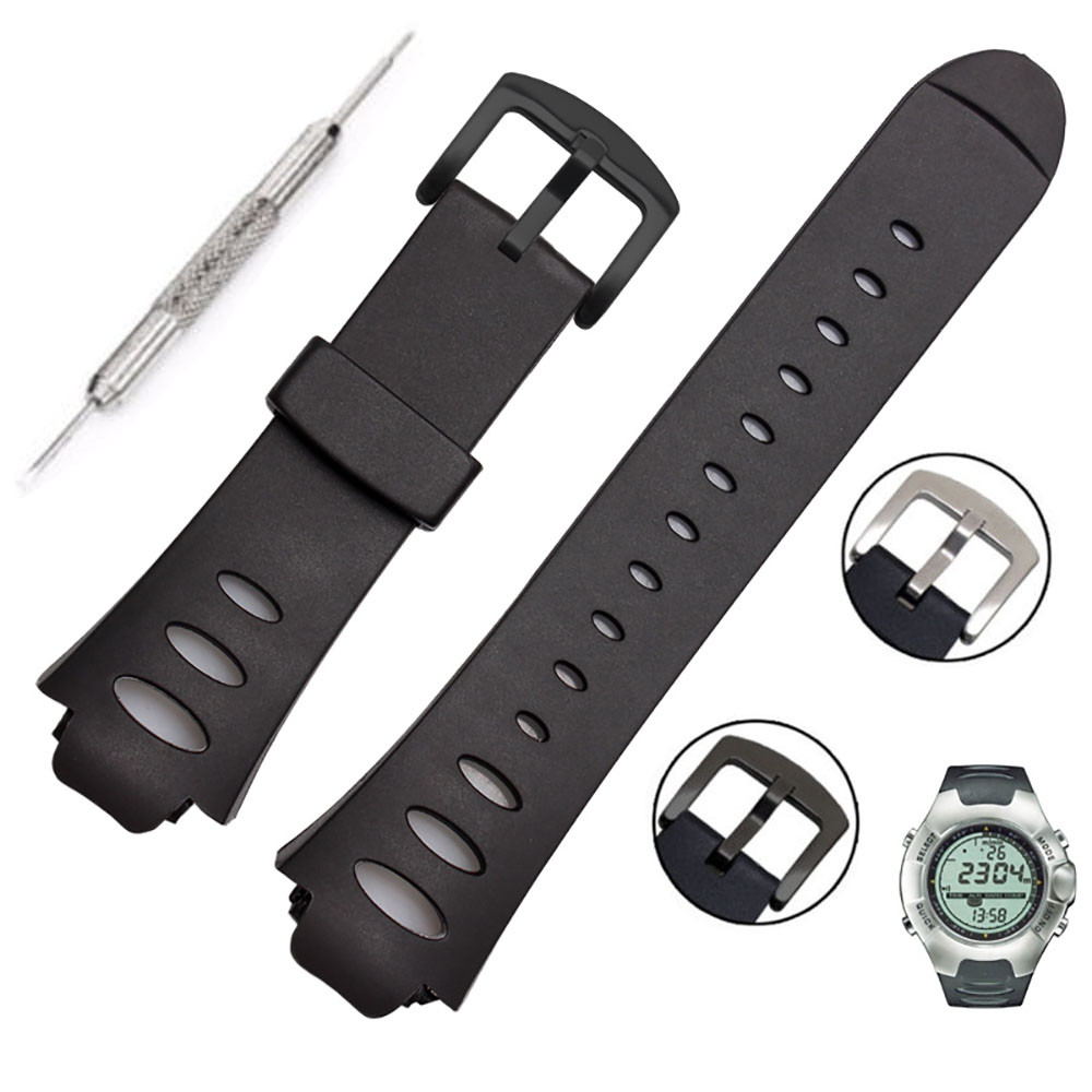 Watch Band Rubber Strap Bracelet Wristband Adjustable Replacement SS0S4723000 For SUUNTO OBSERVER SR X6HRM BFOF hot sale for suunto observe x6hrm rubber watch band strap black waterproof free shipping