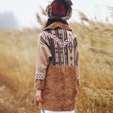 Зима народном стиле толстые теплые куртки вышитые женский MZ37003