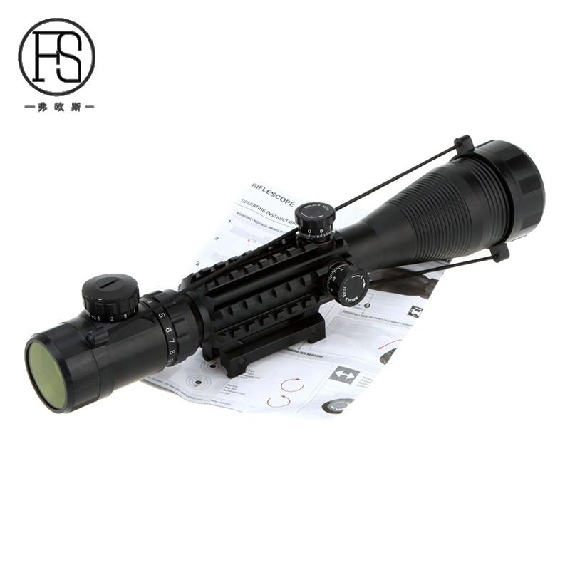 US $43 39 30% OFF|Tactical Optics Sight 4 16X50 EG Reticle Sight Scopes  Airsoft Air Gun Riflescope Sniper Shooting Sight 20mm Rail Mount-in