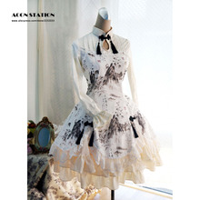 Лидер продаж 5 звезд отзывы Новое китайское Qi Лолита цельное платье с длинными рукавами пейзаж Дракон принт
