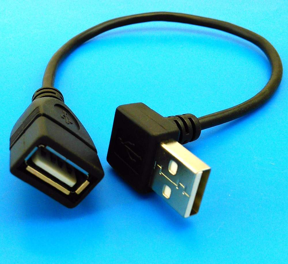 20cm Up Angled Usb Cable L Shape Usb Extension Cable Usb