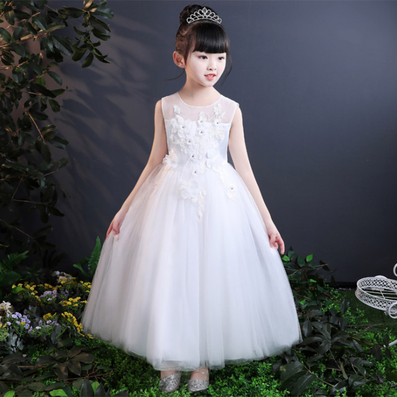 Long Princess Dress Kids Flower Dress First Communion Dresses For Girls Prom Ball Gown For Teens Children's Ladies Clothing