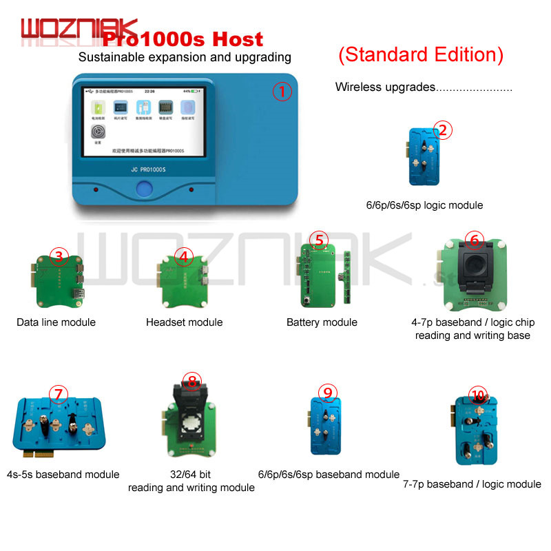 JC Pro1000S Multi-Functional PCIE NAND Programmer HDD SN Read Tool Battery Data Line For IPhone 8 8P X 7 7P 6 6S 6SP IPad 23456