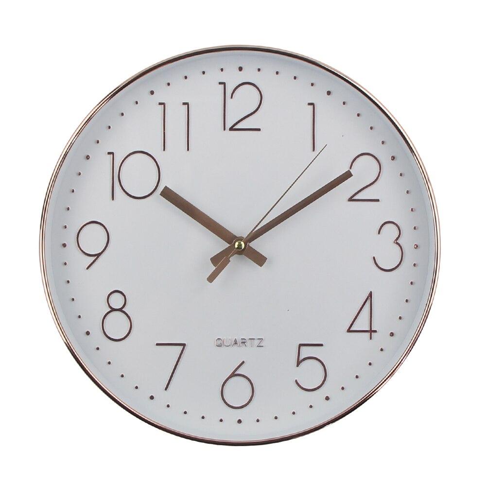Silent Wall Clock Modern Design Quartz Wall Watch Plastic