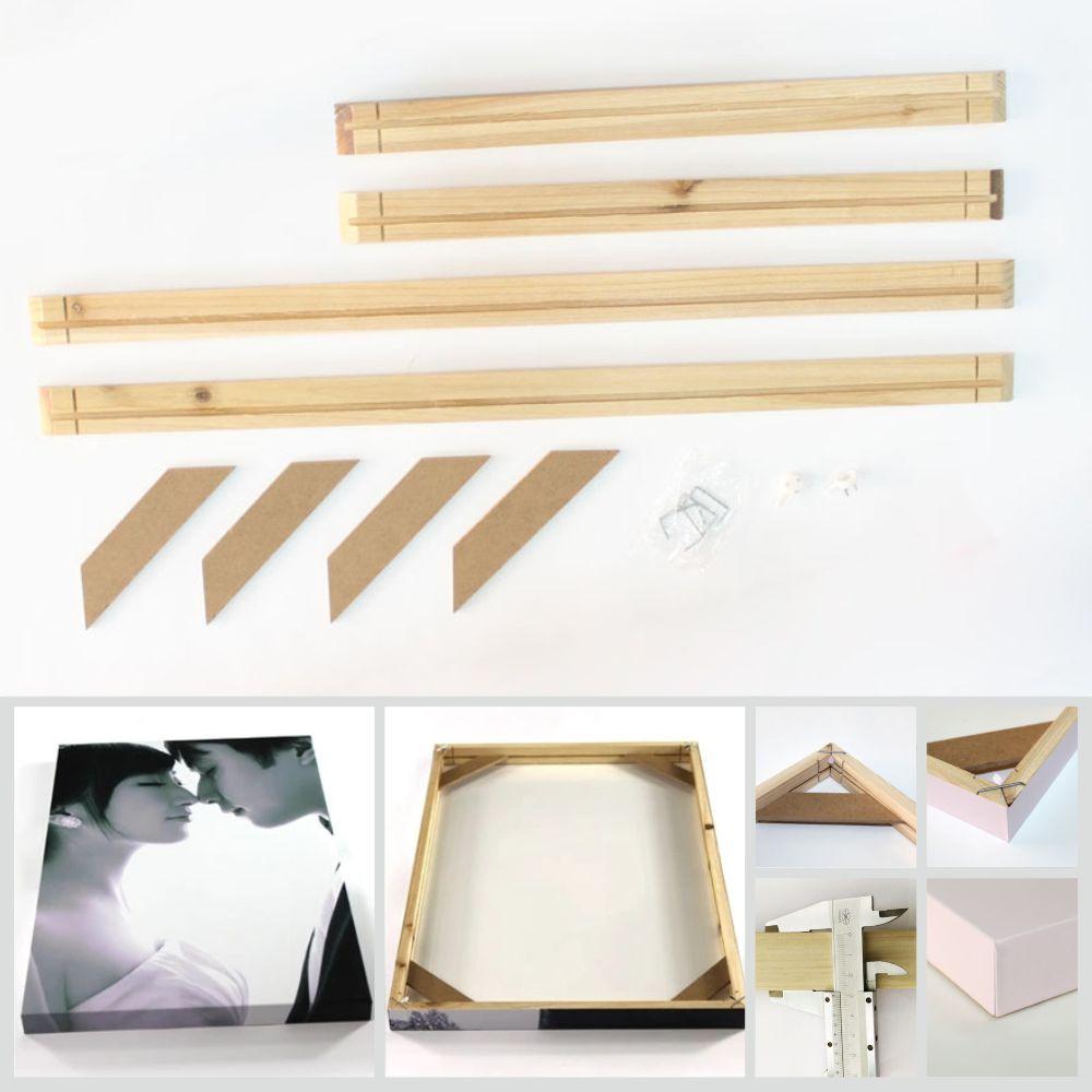 Natürliche Holz Rahmen Für Wand Leinwand Ölgemälde Große Größe DIY ...