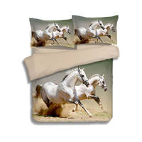 Galloping White Horses Animal 3D Printed Comforter Bedding Set Quilt/Duvet Cover Bedclothes Twin Full Queen King Size Adult Home