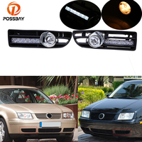POSSBAY Fog Lights for VW Bora Jetta MK4 1999 2000 2001 2002 2003 2004 2005 2006 2007 Front Lower Bumper LED/Halogen Foglamps
