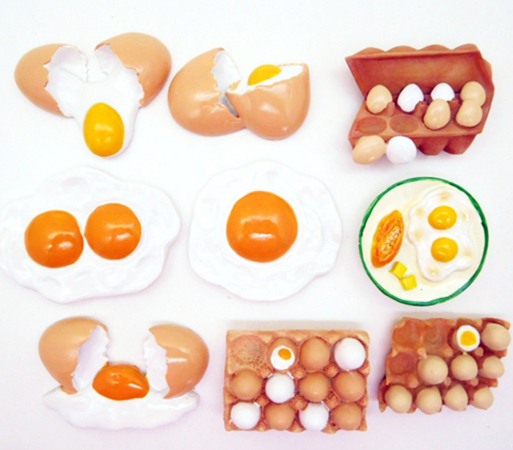 1 Pcs New Arrivals Cute Artistic Meals Form Fridge Magnets Cute Eggs fashion Ornamental Fridge Memento Sticker House Decor HTB1