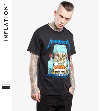 INFLATION | 2017 Summer t shirts Men Cotton Casual Tshirt Top Tees males's clothes Larger Size S-XXL