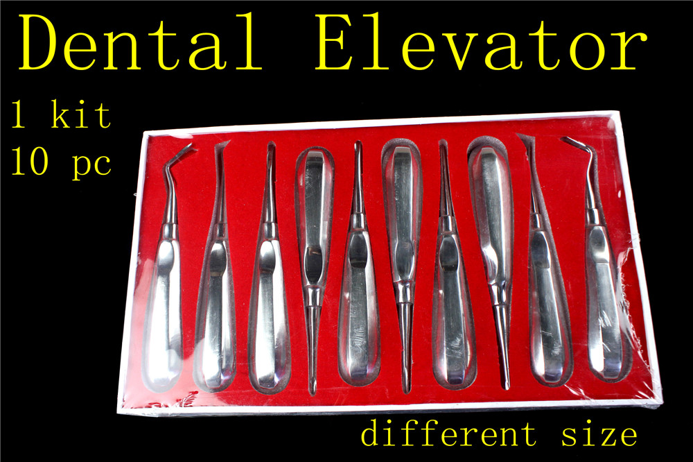 10 pcs medical Oral dental lab dentistry dentist dental detista equipment for teeth whitening clareador curved ROOT ELEVATOR soarday children primary teeth alternating transparent model dental root clearly displayed dentist patient communication