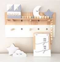 Hot sale kids room wall shelves for baby room wall decor storage rack Christmas GIFT