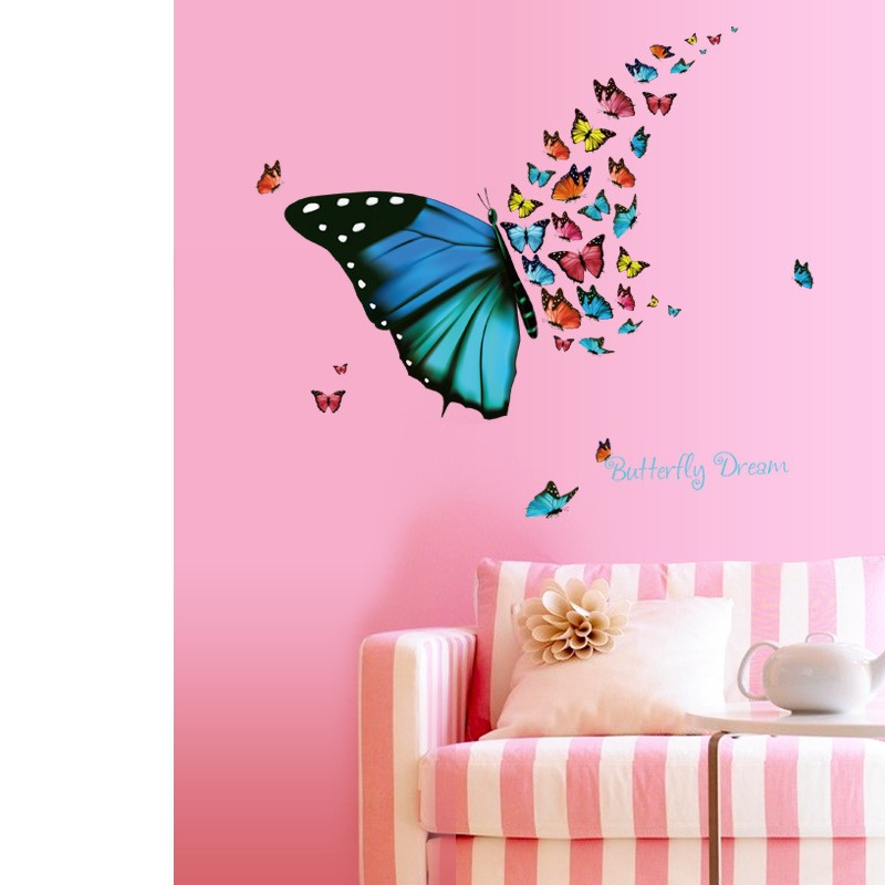 Butterfly Dreams Wall Stickers Living room Corners Wall Decals Decor ...