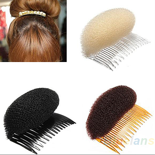 3pcs/lot Hair Styler Volume Bouffant Beehive Shaper Roller Bumpits Bump Foam On Clear Comb Xmas Accessories 02CO 2SE3