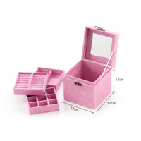 Jewelry Storage Box Square Case Holder Necklace Earring Stand Home Organization ContainerAccessories Supplies Product