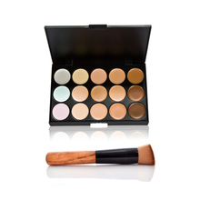 Fashion Women Professional 15 Color Makeup Cosmetic Contour Concealer Palette Make Up+Sponge+Concealer Brush 88 E2shoppi HB88