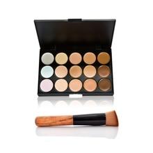 Fashion Women Professional 15 Color Makeup Cosmetic Contour Concealer Palette Make Up+Sponge+Concealer Brush 88 E2shoppi HB88
